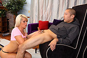 Brooke Haven Gives Handjob to Lucky Winner Greg