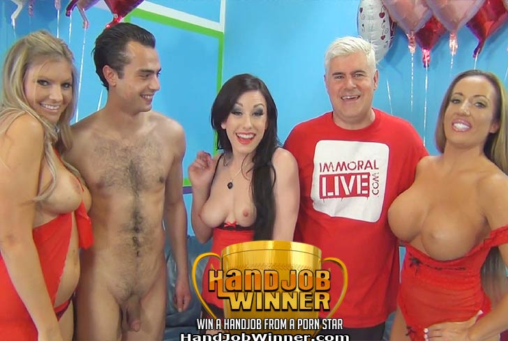 Richelle Ryan Giving a Holiday Handjob