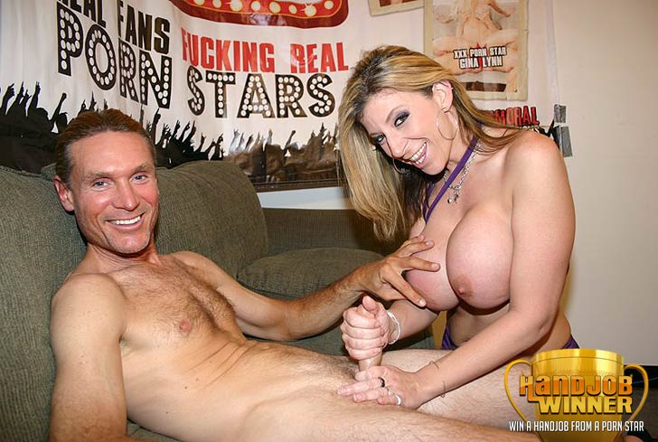 Cassidy Lynn Giving a Handjob to Lucky Winner Johnson
